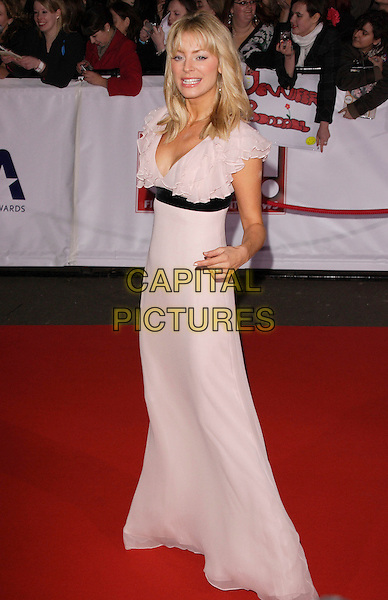 TESS DALY.The National Television Awards, Royal Albert Hall, London, England..October 31st, 2007.TV full length lilac pink dress black waist ruffles ruffles sheer.CAP/ROS.©Steve Ross/Capital Pictures