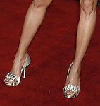 """Actress Michelle Krusiec 's shoes at the Premiere Of Fox's """"What Happens In Vegas"""" on May 1, 2008 at the Mann Village Theatre in Los Angeles, California."""