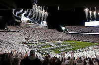 "Fans in the stadium exhibited a ""white out"" during Saturday's Division I NCAA football game between the Ohio State Buckeyes and the Penn State Nittany Lions in State College, Pa., on Saturday, October 22, 2016. (Barbara J. Perenic/Photographer)"
