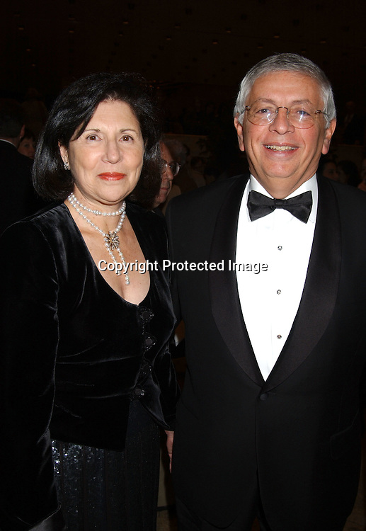 David Stern and wife Dianne                               ..at the New York City Ballet opening Night of the 2003-2004 Season on November 25, 2003 at the New York State Theatre . Photo by Robin Platzer, Twin Images