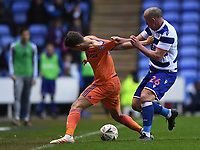 25th January 2020; Madejski Stadium, Reading, Berkshire, England; English FA Cup Football, Reading versus Cardiff City; Charlie Adam of Reading competes for the ball with Will Vaulks of Cardiff City