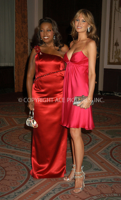 WWW.ACEPIXS.COM . . . . . ....NEW YORK, APRIL 20, 2005....Star Jones and Melania Trump at the Breast Cancer Research Foundation's Annual Red Hot and Pink Party held at the Waldorf Astoria.....Please byline: KRISTIN CALLAHAN - ACE PICTURES.. . . . . . ..Ace Pictures, Inc:  ..Craig Ashby (212) 243-8787..e-mail: picturedesk@acepixs.com..web: http://www.acepixs.com