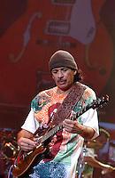 Carlos Santana performs in Cross Roads Festival Circa 2003 in Dallas Texas at Texas Stadium