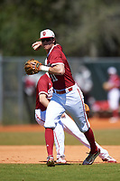 Indiana Hoosiers shortstop Brian Whilhite (11) during a game against the Butler Bulldogs on March 6, 2016 at North Charlotte Regional Park in Port Charlotte, Florida.  Indiana defeated Butler 2-1.  (Mike Janes/Four Seam Images)