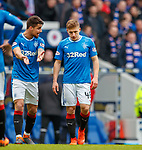 11.3.2018 Rangers v Celtic:<br /> Greg Docherty and Fabio Cardoso