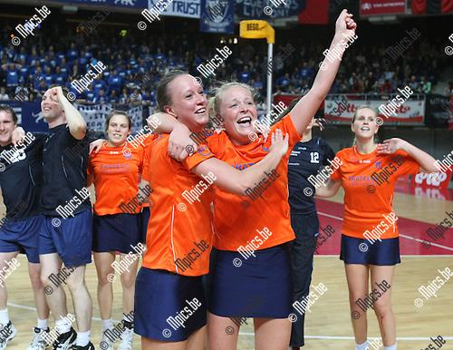 2010-03-21 / Korfbal / seizoen 2009-2010 / Scaldis wint de zaalcompetitie..Foto: Mpics