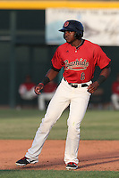 Alex Glenn #6 of the Visalia Rawhide runs the bases during a game against the Stockton Ports at Rawhide Ballpark on May 5, 2014 in Visalia California. Visalia defeated Stockton, 8-6. (Larry Goren/Four Seam Images)