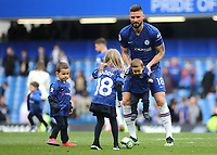 Olivier Giroud of Chelsea on the pitch after the match with members of his family during Chelsea vs Watford, Premier League Football at Stamford Bridge on 5th May 2019