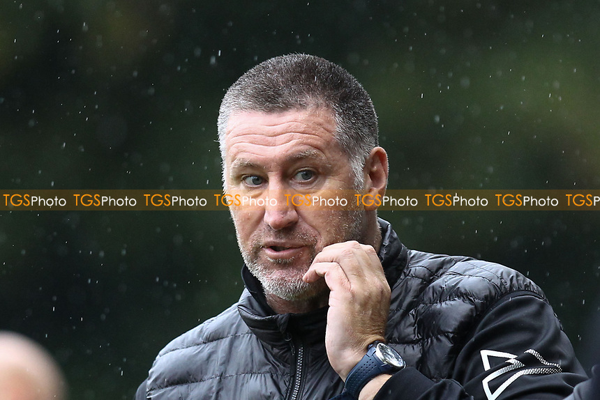 AFC Hornchurch manager Jimmy McFarlane during Hampton & Richmond Borough vs AFC Hornchurch, Emirates FA Cup Football at the Beveree Stadium on 6th October 2018