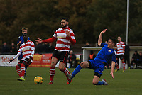 Louie Theophanous of Kingstonian comes under pressure during Kingstonian vs Lewes, BetVictor League Premier Division Football at King George's Field on 16th November 2019