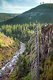 USA, Oregon, Bend, a view of Tumalo Creek just below Tumalo Falls which is located west of Bend and is one of the most popular outdoor destinations