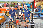 HOMEMADE:The O Regan family from Ballyheigue who made their own Clayton Traction Steam Engin put it on display on Sunday at the Blennerville Trashing Fair, l-r: Tadgh (macot doll), Sean, John (snr) and \donal O'Regan..........