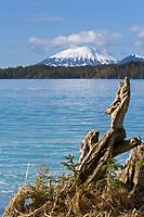 View of Mount Edgecumbe across Sitka Sound, Southeast, Alaska