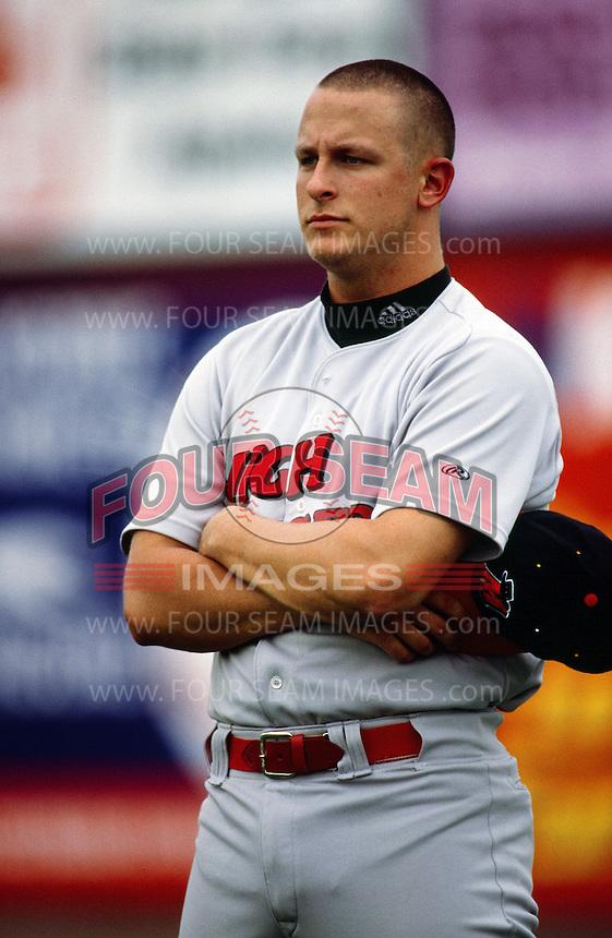 Jeremy Ward of the High Desert Mavericks during a California League baseball game circa 1999. (Larry Goren/Four Seam Images)