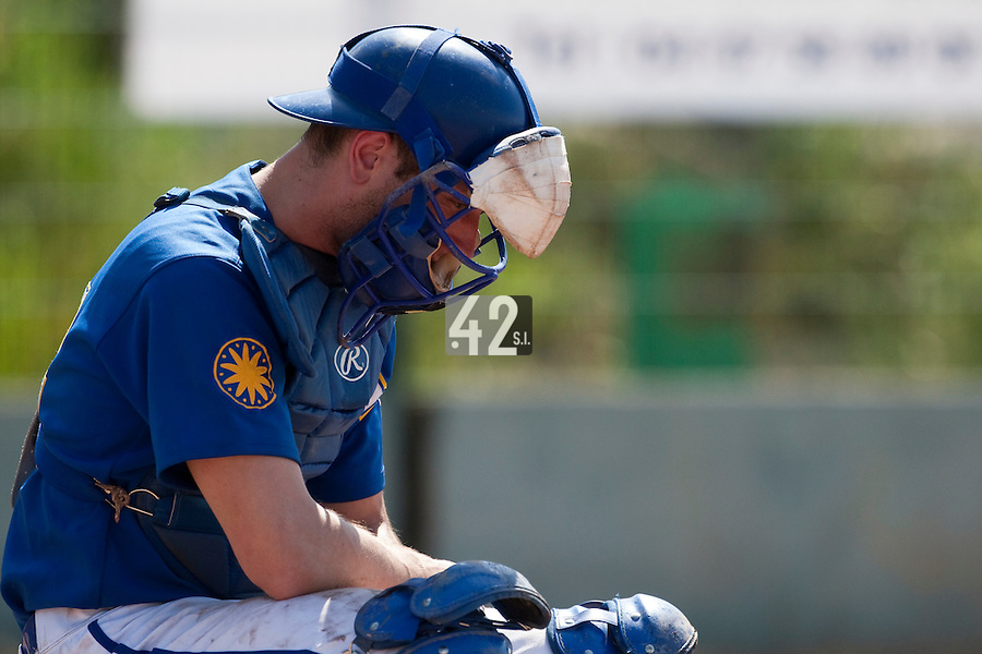 24 May 2009: Alex Malihoudis of Senart is seen catching during the 2009 challenge de France, a tournament with the best French baseball teams - all eight elite league clubs - to determine a spot in the European Cup next year, at Montpellier, France. Senart wins 8-5 over La Guerche.