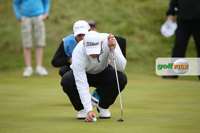 During the second 18 holes of the 119th Amateur Championship Match Play FInal Bradley Neil of the Blairgowrie Golf Club in Perthshire Scotland, made the stronger play for the title edging 4UP by the 14th. The South African Zander Lombard held his own to the 17th hole where one shot too many into the long rough gave the title to the Scot; from Royal Portrush Golf Club, Portrush, Northern Ireland. Picture:  David Lloyd / www.golffile.ie