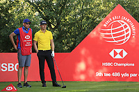 Matt Wallace (ENG) on the 9th tee during round 1 at the WGC HSBC Champions, Sheshan Golf Club, Shanghai, China. 31/10/2019.<br /> Picture Fran Caffrey / Golffile.ie<br /> <br /> All photo usage must carry mandatory copyright credit (© Golffile | Fran Caffrey)