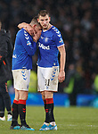 08.11.2019 League Cup Final, Rangers v Celtic: Ryan Jack in tears with Borna Barisic