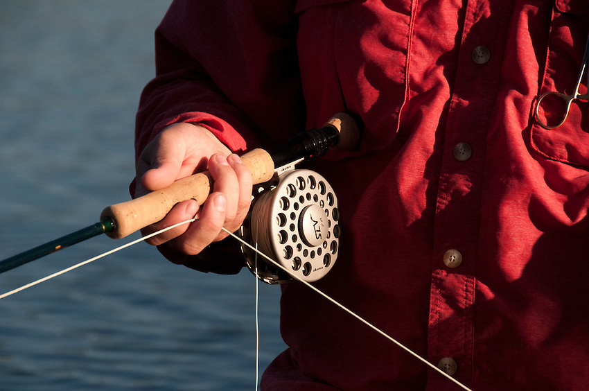 Fly fishing with an 8 weight rod for warm water species at Craig Lake State Park in Michigan's Upper Peninsula.