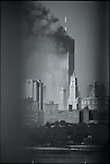 From Williamsburg Bridge before North Tower Collapse, September 11, 2001 ..2001 © Lori GRINKER / CONTACT Press Images