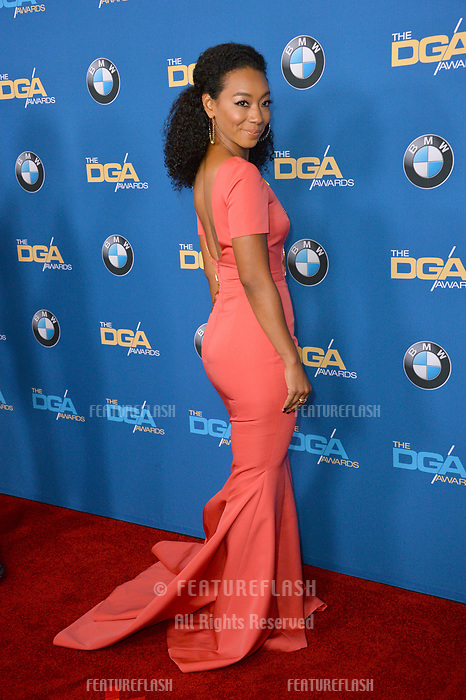 Betty Gabriel at the 70th Annual Directors Guild Awards at the Beverly Hilton Hotel, Beverly Hills, USA 03 Feb. 2018<br /> Picture: Paul Smith/Featureflash/SilverHub 0208 004 5359 sales@silverhubmedia.com