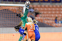 Houston, TX - Saturday July 22, 2017: Brooke Elby, Abby Smith, Rachel Daly and Megan Oyster during a regular season National Women's Soccer League (NWSL) match between the Houston Dash and the Boston Breakers at BBVA Compass Stadium.