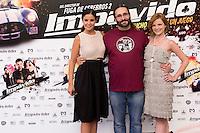 24.07.2012. Presentation at the Madrid Film Academy of the movie 'Impavido&acute;, directed by Carlos Theron and starring by Marta Torne, Selu Nieto, Nacho Vidal, Carolina Bona, Julian Villagran and Manolo Solo. In the image Marta Torne (L),  Carlos Theron (C) and Carolina Bona (R). (Alterphotos/Marta Gonzalez) /NortePhoto.com*<br />  **CREDITO*OBLIGATORIO** *No*Venta*A*Terceros*<br /> *No*Sale*So*third* ***No*Se*Permite*Hacer Archivo***No*Sale*So*third*&Acirc;&copy;Imagenes*con derechos*de*autor&Acirc;&copy;todos*reservados*.