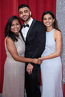 Bharti Patel, Sunjay Midda &amp; Lisa Amlalamanar arriving for the British Soap Awards 2018 at the Hackney Empire, London, UK. <br /> 02 June  2018<br /> Picture: Steve Vas/Featureflash/SilverHub 0208 004 5359 sales@silverhubmedia.com