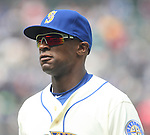 Seattle Mariners'   Austin Jackson before their game against the Minnesota Twins April 26, 2015 at Safeco Field in Seattle.  The Twins beat the Mariners beat the Angels 4--2. ©2015. Jim Bryant photo. All RIGHTS RESERVED.