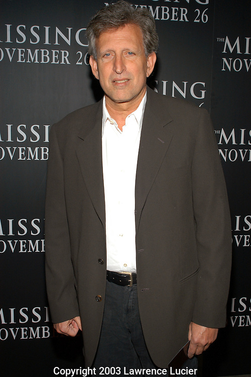 NEW YORK - NOVEMBER 16: Revolution Studios producer Joe Roth arrives November 16, 2003, at the premiere of The Missing at Loews Lincoln Square in New York City.