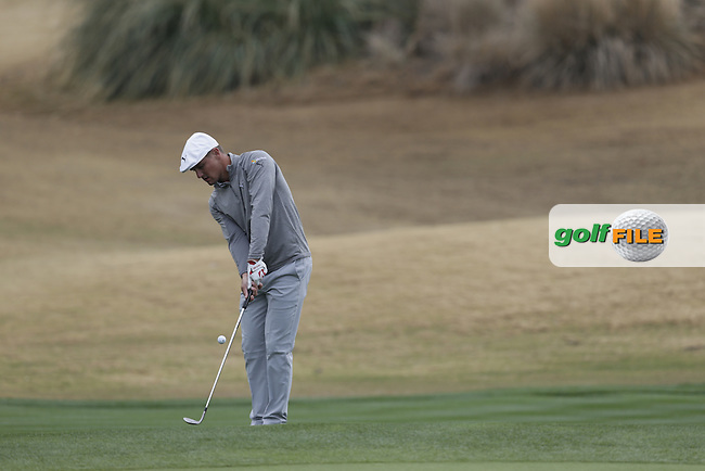 Bryson DeChambeau (USA) chips onto the 17th green during Thursday's Round 1 of the 2017 CareerBuilder Challenge held at PGA West, La Quinta, Palm Springs, California, USA.<br /> 19th January 2017.<br /> Picture: Eoin Clarke | Golffile<br /> <br /> <br /> All photos usage must carry mandatory copyright credit (&copy; Golffile | Eoin Clarke)