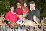 3360-3362.---------.Out in the Wild.---------------.Tim O'Donoghue(Rt)from National Parks and Wild Life Services showing some of the Irish wild life on display at Ballyseedy Wood last Saturday as part of the Heritage week,with him are Tracey,Raphael,Sean and Conor Crowley from Tonevane Tralee.