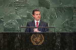 DSG meeting<br /> <br /> AM Plenary General DebateHis<br /> <br /> <br /> His Excellency Enrique Peña Nieto, President, United Mexican States
