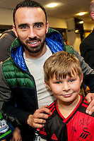 Tuesday  15 December 2015<br /> Pictured: Leon Britton<br /> Re: Kids SCFC Christmas Party at the Liberty Stadium, Swansea