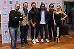 (LtoR) Singers Guillermo Fernandez, Ariel Ardit, Miguel Poveda and Antonio Carmona and two dancers during the press conference and rehearsal of Festival Unicos. September 24, 2019. (ALTERPHOTOS/Johana Hernandez)