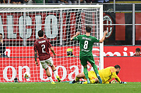 Gaetano Castrovilli of Fiorentina scores the goal of 0-2 for his side <br /> Milano 29/09/2019 Stadio Giuseppe Meazza <br /> Football Serie A 2019/2020 <br /> AC Milan - ACF Fiorentina   <br /> Photo Image Sport / Insidefoto