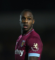 West Ham United's Michail Antonio<br /> <br /> Photographer Rob Newell/CameraSport<br /> <br /> Emirates FA Cup Fourth Round - AFC Wimbledon v West Ham United - Saturday 26th January 2019 - Kingsmeadow Stadium - London<br />  <br /> World Copyright © 2019 CameraSport. All rights reserved. 43 Linden Ave. Countesthorpe. Leicester. England. LE8 5PG - Tel: +44 (0) 116 277 4147 - admin@camerasport.com - www.camerasport.com