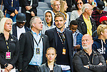 Stockholm 2015-07-16 Fotboll Kval Uefa Europa League  AIK - FC Shirak :  <br /> AIK:s &aring;terv&auml;ndande nyf&ouml;rv&auml;rv Jos Hooiveld tillsammans med AIK:s ordf&ouml;rande Johan Segui p&aring; l&auml;ktaren inf&ouml;r matchen mellan AIK och FC Shirak <br /> (Foto: Kenta J&ouml;nsson) Nyckelord:  AIK Gnaget Tele2 Arena UEFA Europa League Kval Kvalmatch FC Shirak Armenien Armenia portr&auml;tt portrait