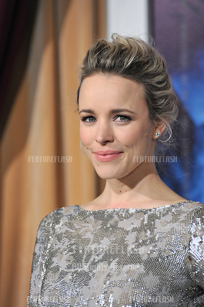 "Rachel McAdams at the Los Angeles premiere of her new movie ""Sherlock Holmes: A Game of Shadows"" at the Village Theatre, Westwood..December 6, 2011  Los Angeles, CA.Picture: Paul Smith / Featureflash"