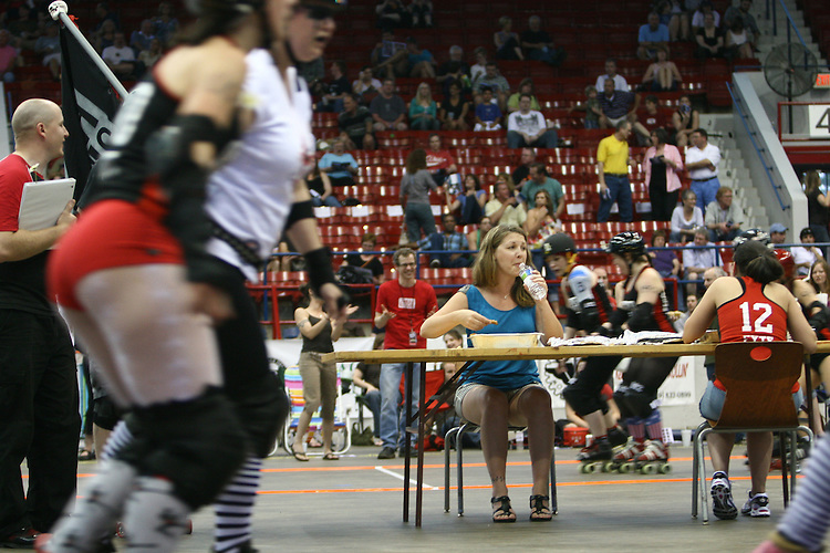 Eating contests are a mainstay of between match entertainment