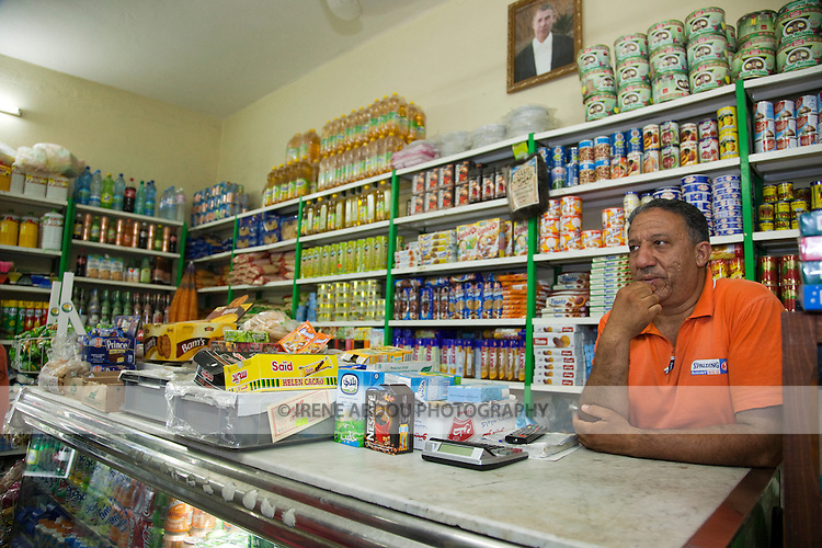 Man in a grocery store in Tozeur, Tunisia