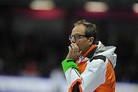SCHAATSEN: HEERENVEEN: Thialf, Essent ISU World Cup, 02-03-2012, coach Jac Orie (NED), ©foto: Martin de Jong
