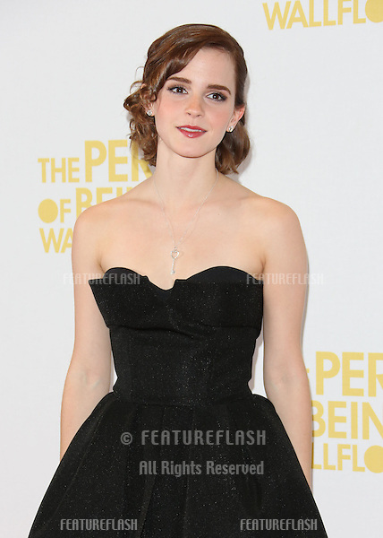 Emma Watson arriving for The Perks of being a Wallflower gala screening at The May Fair hotel, London. 26/09/2012 Picture by: Henry Harris / Featureflash