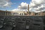 Chairs set up in St. Peter's Square