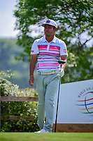 Hideto Tanihara (JAP) watches his tee shot on 6 during round 7 of the World Golf Championships, Dell Technologies Match Play, Austin Country Club, Austin, Texas, USA. 3/26/2017.<br /> Picture: Golffile | Ken Murray<br /> <br /> <br /> All photo usage must carry mandatory copyright credit (&copy; Golffile | Ken Murray)