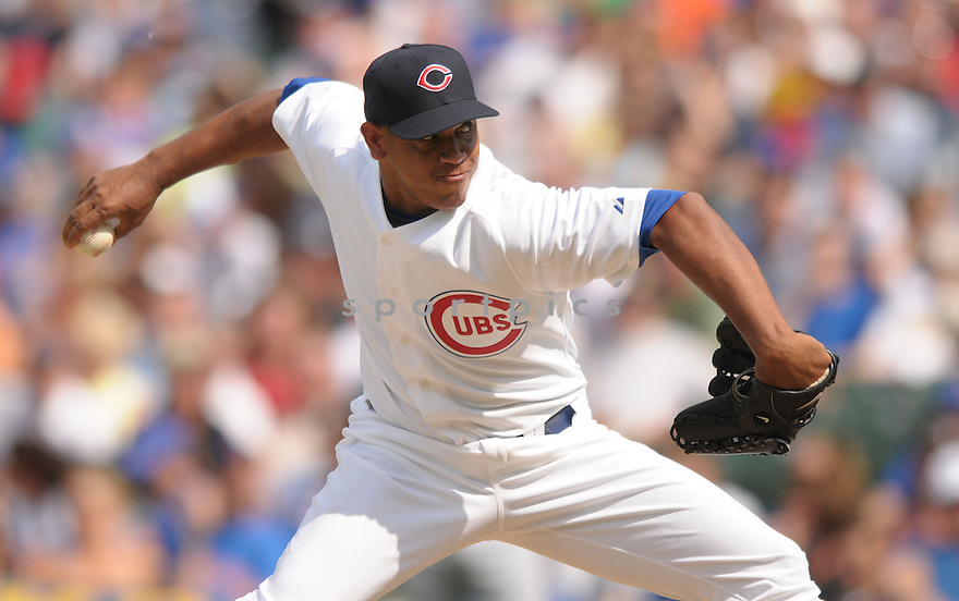 CARLOS MARMOL, of the Chicago Cubs, in action against the Atlanta Braves during the Cubs game on June 12, 2008 in Chicago, IL. The Cubs won the game 3-2.