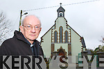 Fr Mangan outside Knocknagoshel church which was broken into over the weekend   Copyright Kerry's Eye 2008