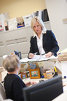 4/26/11 9:49:50 AM -- Warrington, Pa. -- Fox Rothschild Attorney Susan Smith at work in her Warrington, Pa. office April 26, 2011. -- Photo by William Thomas Cain/Cain Images for Fox Rothschild.