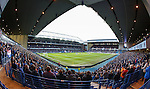 A full house at Ibrox Stadium respecting a minutes silence for the dead from 1971