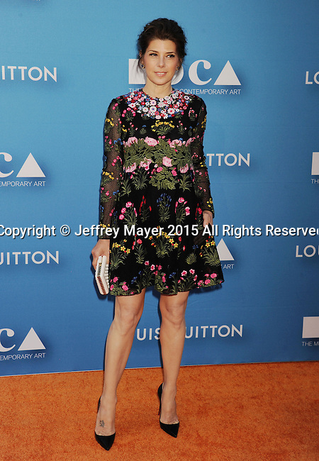 7LOS ANGELES, CA - MAY 30:  Actress Marisa Tomei arrives at the 2015 MOCA Gala presented by Louis Vuitton at The Geffen Contemporary at MOCA on May 30, 2015 in Los Angeles, California.